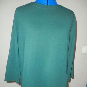 Karen Scott Sport Blouse Plus Size 1X Green